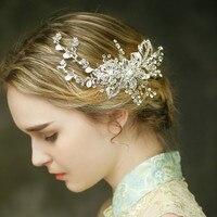 Sıcak Satış Tiara Düğün Saç Tarak Vintage Stil Gelin Saç Aksesuarları En Kaliteli El Yapımı
