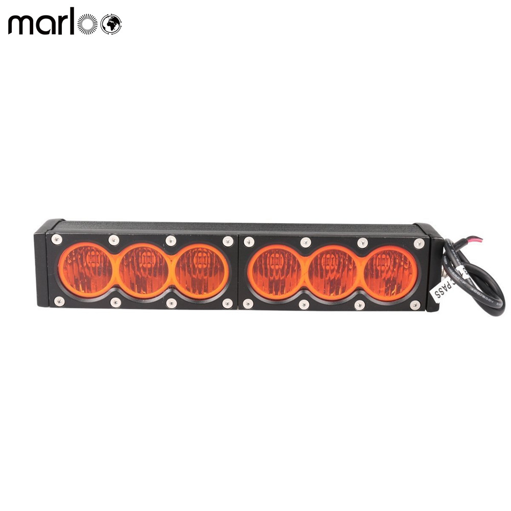 Marloo 11inch 60W LED Light Bar Amber Single Rows Off-road Light 12V 24V Yellow LED Work Lamp For ATV SUV 4X4 Boat Hunting цена