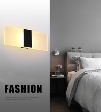 Mini 3/6/12/18W Led Acrylic Wall Lamp AC85-265V 14CM/22CM Long warm white Bedding Room Living Room Indoor wall lamp цена и фото