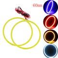 Высокое Качество!!! 2 пара (4 шт.) 60 ММ 45 SMD Автомобилей Светодиодные Фары COB Angel Eye LED CCFL Halo Кольцо Angel Eyes Контрольные Лампы