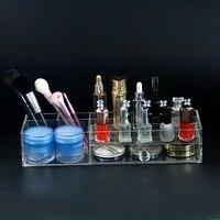 New Acrylic Cosmetic Storage Box with a drawer Makeup Storage Case Lipstick Nail Polish Rack Holder Makeup Organizer
