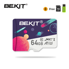 Bekit 마이크로 SD 카드 TF 카드 128 기가 바이트 32 기가 바이트 64 기가 바이트 256 기가 바이트 A1 Class10 80 메가바이트/초/s 플래시 microsd 카드 메모리 카드 samrtphone 및 테이블 PC 용