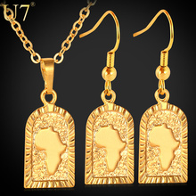 font b U7 b font African font b Jewelry b font Set Wholesale Gold Plated