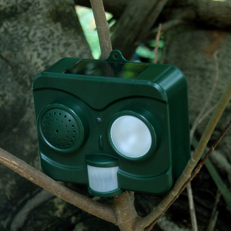 Hot Sale Solar Sound And Light Animal Drive Ultrasonic Bird Panic Control Machine(China)