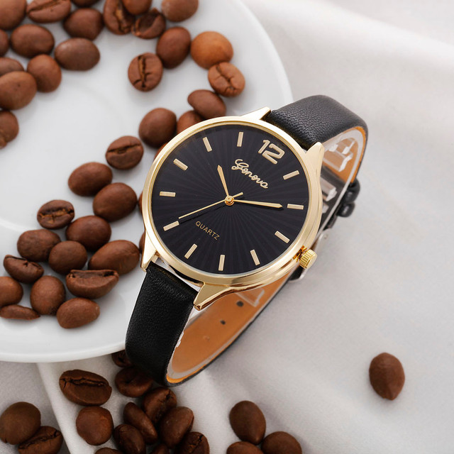 2018 New Arrival watch women Faux lady dress watch, women's Casual Leather quart