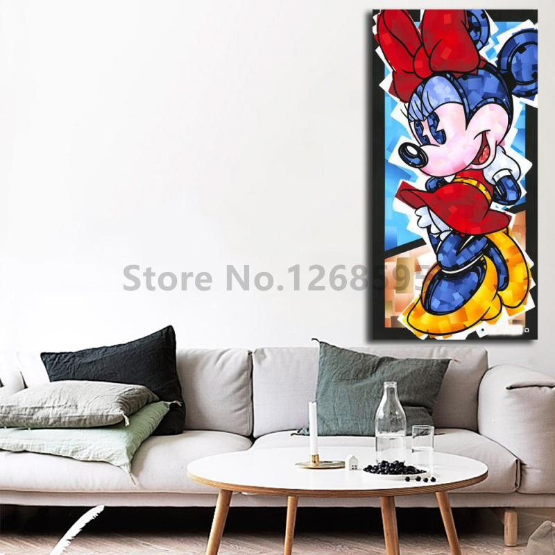 Minnie Mouse Happy Pose By Trevor HD Carlton Canvas Painting Print Living Room Home Decor Modern Wall Art Oil Painting Poster