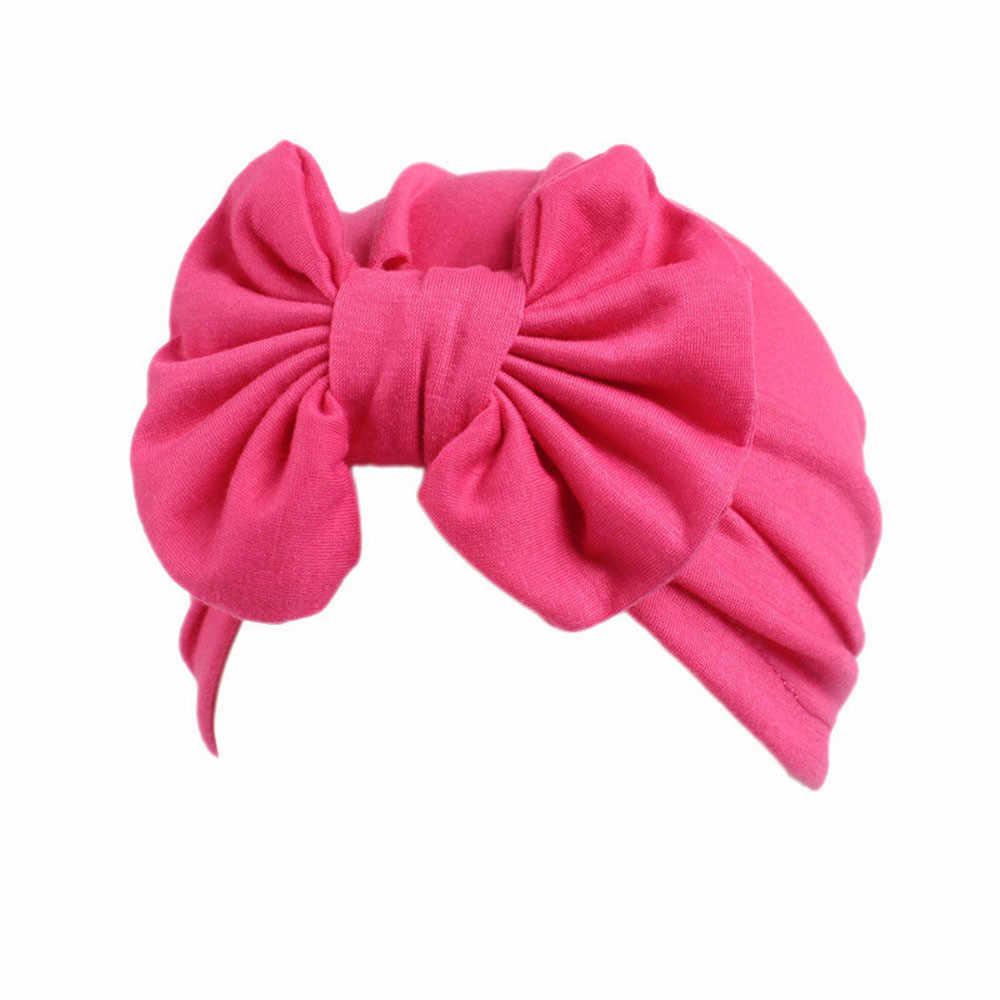 Children Baby Girls Boho Hat Beanie Scarf Turban Head Wrap Cap Baby Clothing Overalls for newborns Bow Beanie Scarf Turban