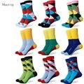 Hombres calcetines de algodón de colores un montón de nuevos estilos
