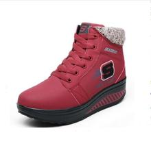 EUR 35-40 Winter waterproof Women Boots Platforms Wedge Women's Casual Shoes Fashion Add Wool Warm Snow Boots Swing ankle boots