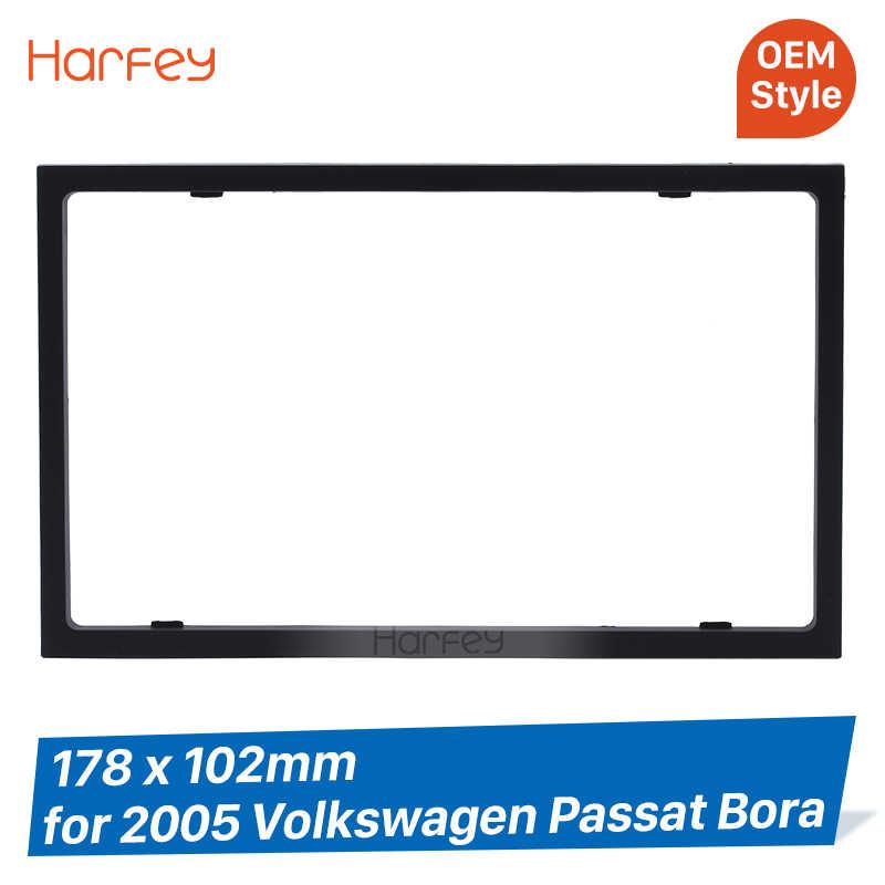 Harvey 178*102mm podwójne din samochód Panel konsoli wykończenia Bezel dla 2005 Volkswagen Passat Bora Auto Stereo zestaw ze szkieletem w desce rozdzielczej