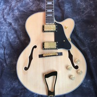 All Real Images ES 175 Jazz Hollow Body Electric Electric Guitar Flame Back Natural Color In Stock For Transportation