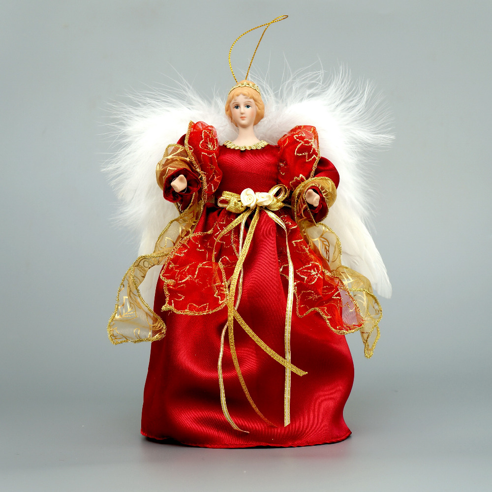 Cosette christmas tree topper angel decoration home ornament porcelain doll 10 25cm height in for Angel of the north christmas decoration