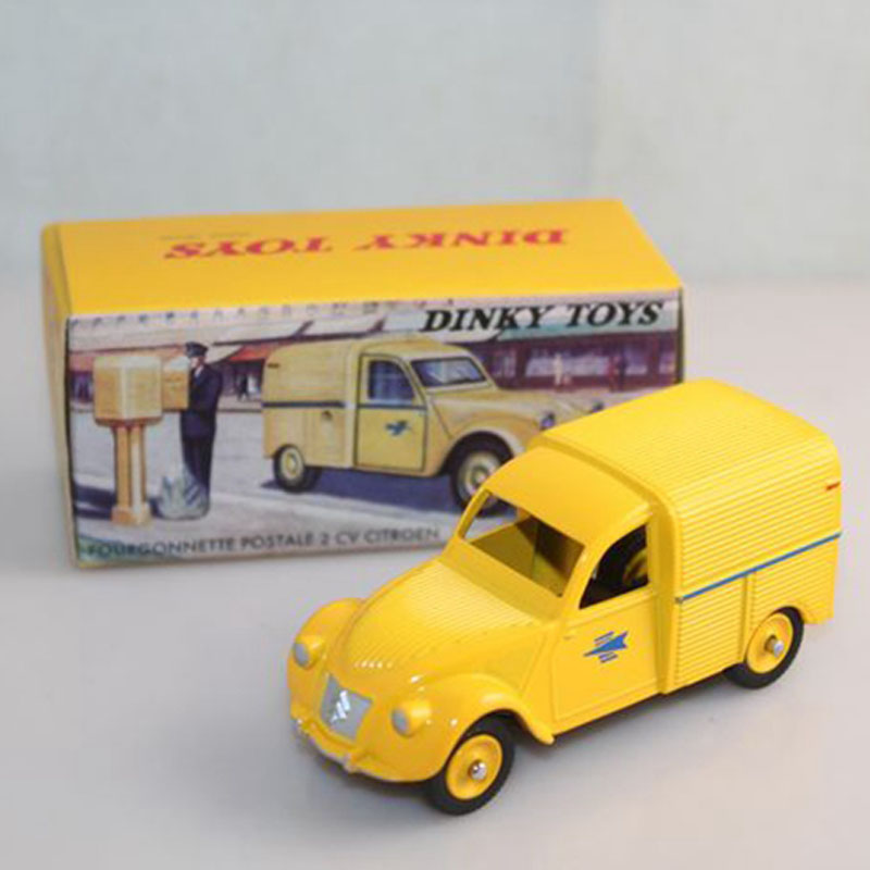 atlas 1 43 dinky toys 560 citroen 2cv fourgonnette van postal vehicles diecast models car in. Black Bedroom Furniture Sets. Home Design Ideas