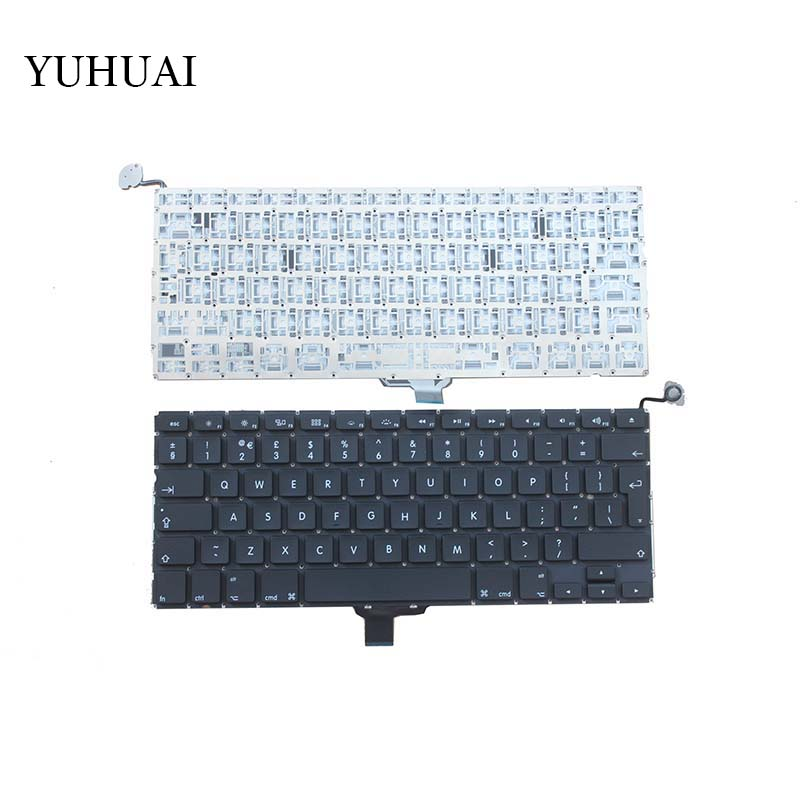 New  UK Laptop Keyboard 2009-2012 For Apple Macbook Pro A1278 MC700 MC724 MD313 MD314 UK  Keyboard Replacement 5pcs lot netherlands dutch keyboard for macbook pro 13 a1278 netherlands dutch keyboard mc700 mc724 md101 md102