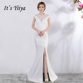 It's Yiiya Evening dress V-neck Short sleeves Beading Party gowns Sexy Floor-length zipper back Formal Mermaid Prom dresses C174 it s yiiya sequined evening dress v neck regular sleeve zipper back mermaid prom dresses floor length formal party gowns c070