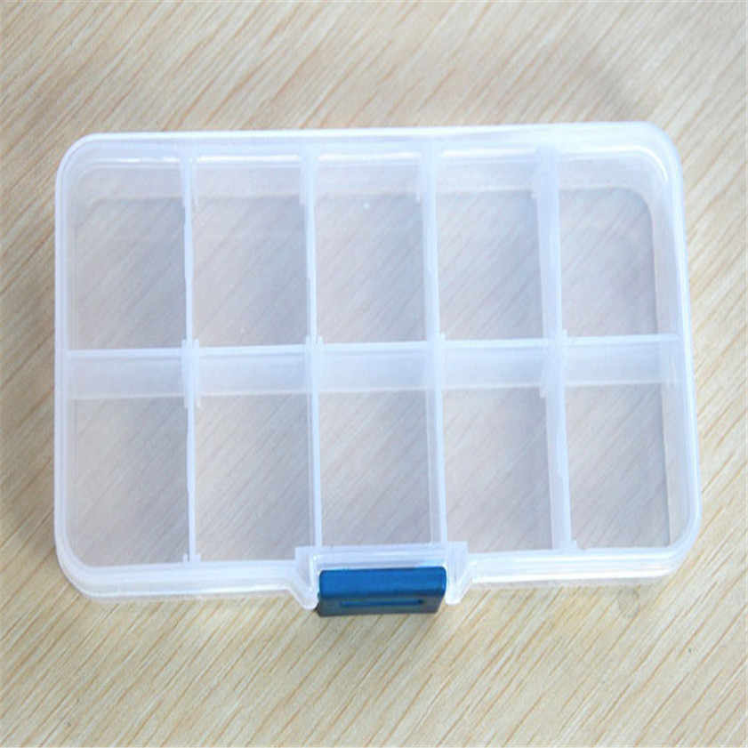 2017 Caso Caixa De Armazenamento Titular Container Pills Jóias Nail Art Tips 10 Grades para tornar a sua casa fora de confusão b787