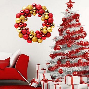 Decoracion De Navidad Bolas Guirnaldas Guirnalda Decoracion - Guirnalda-navidad
