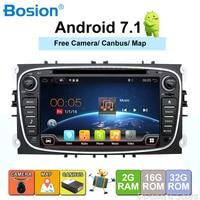 2 din Android 7,1 4 ядра dvd плеер gps Navi для Ford Focus Mondeo Galaxy с аудио Радио стерео Штатная бесплатная Canbus