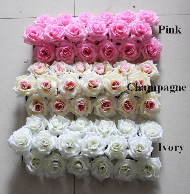 Big rose heads Wedding road lead flowers Bouquets Wedding wall ...