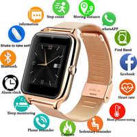 Reloj inteligente Z60 GT08 Plus correa de Metal Bluetooth reloj inteligente compatible con tarjeta Sim TF Android y IOS varios idiomas PK V8 Y1смарт ч