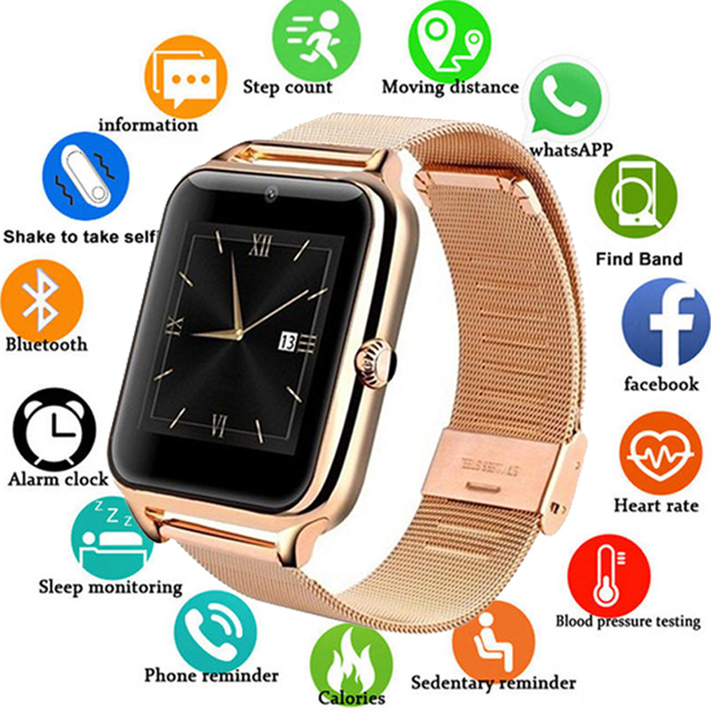 Z60 <font><b>Smart</b></font> <font><b>Watch</b></font> <font><b>GT08</b></font> <font><b>Plus</b></font> <font><b>Metal</b></font> Strap Bluetooth Wrist Smartwatch Support Sim TF Card Android&IOS Multi-languages PK V8 Y1 image