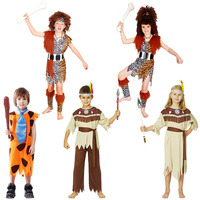 Savage Costume Barbarian Kids Cosplay Halloween Carnival Costumes Fantasia Fancy Dress Party Supplies