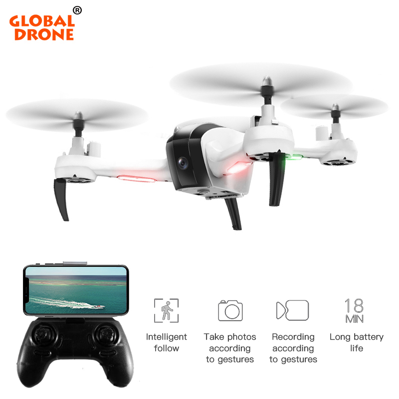 Global Drone FPV Quadcopter with Camera 1080P Gesture Taking Photo Live Video HD Drones Follow Me