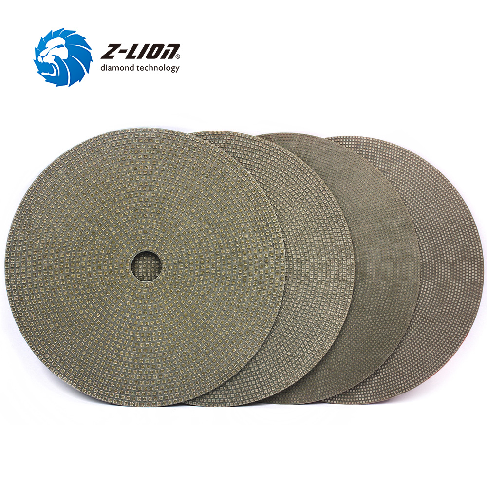 Z LION 7 4pcs Diamond Sanding Disk Electroplated Grinding Pad Flexible Disc For Stone Concrete Glass