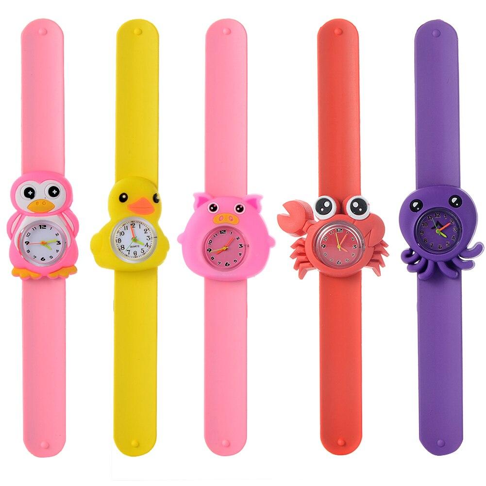 3D мультфильм часы животное милый дети часы ребенок ребенок кварц водонепроницаемый студент наручные часы для девочек мальчиков день рождения подарки