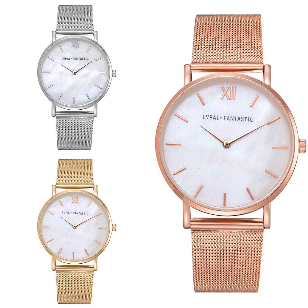 7ec51e0884cf Lvpai Women s Casual Quartz Mesh Belt Watch Analog Wrist Watch daniel  wellington luxury watches women rose gold men