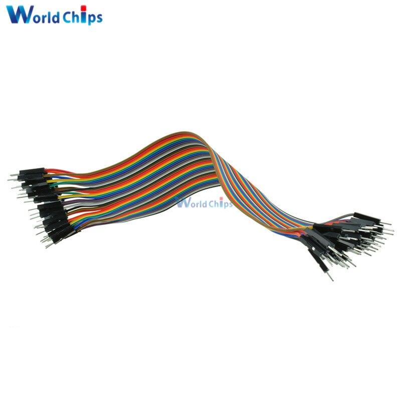 5PCS x 40PCS Dupont Wire Color Jumper Cable 2.54mm 1P-1P Male to Female 20cm K