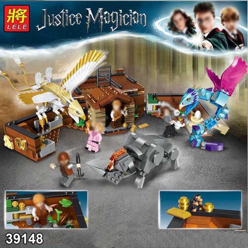 2019 Harri MOVIE Potter Fit Legoinglys Harry Fantastic Beasts 75952 Building Blocks Bricks Kids Diy Toys bionicle Birthday Gifts