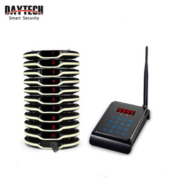 DAYTECH Pager Call Customer Service Restaurant Pagering System 10 PCS Wireless Coaster Pagers Waiter Calling System