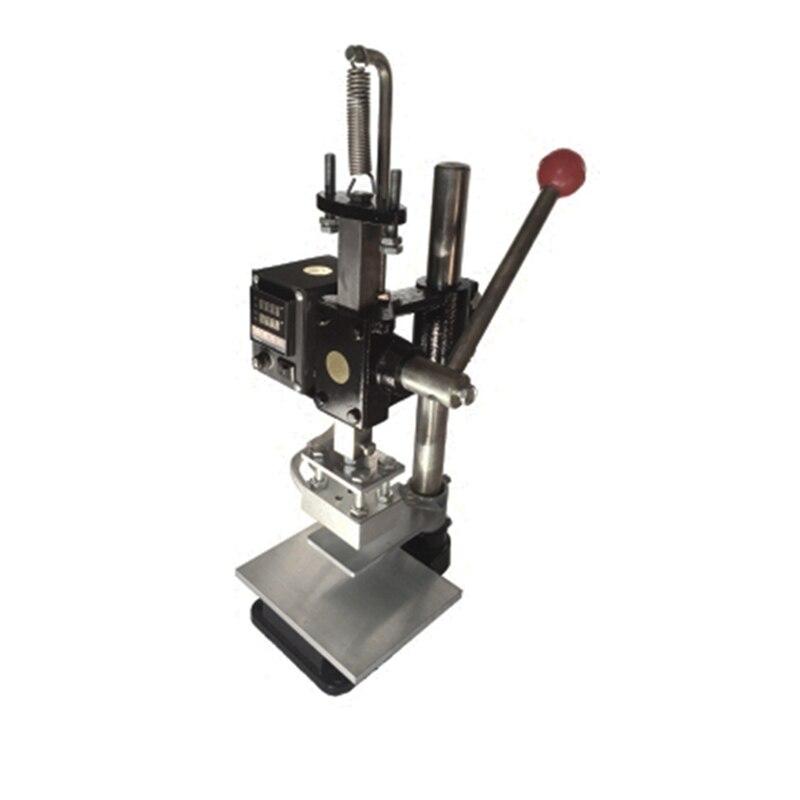 Nouvelle machine de marquage à chaud 5*7 cm Machine de bronzage manuelle pour PVC cuir sacs en polyuréthane portefeuille or estampage