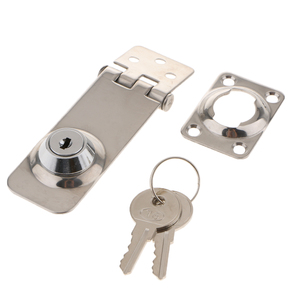 Image 4 - 1 Pcs Silver Locking Lift Handle Flush Boat Latch With Key Can Locking Flush Pull Latches Deck Hatch Marine/Yacht Hardware
