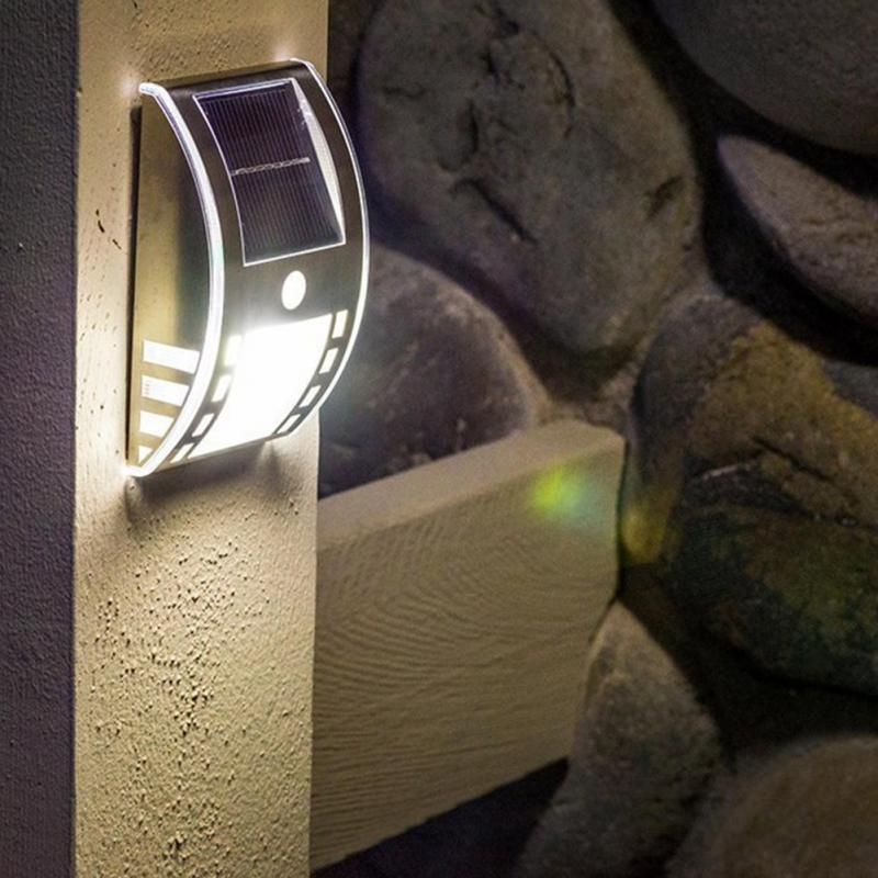 Lighting Basement Washroom Stairs: Warm/white Solar Stair Light PIR Body Sensor Motion