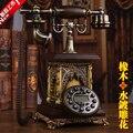 Мода античный деревянный телефон американские старинные домашний телефон мода жк-подсветки / руки-бесплатные / аон