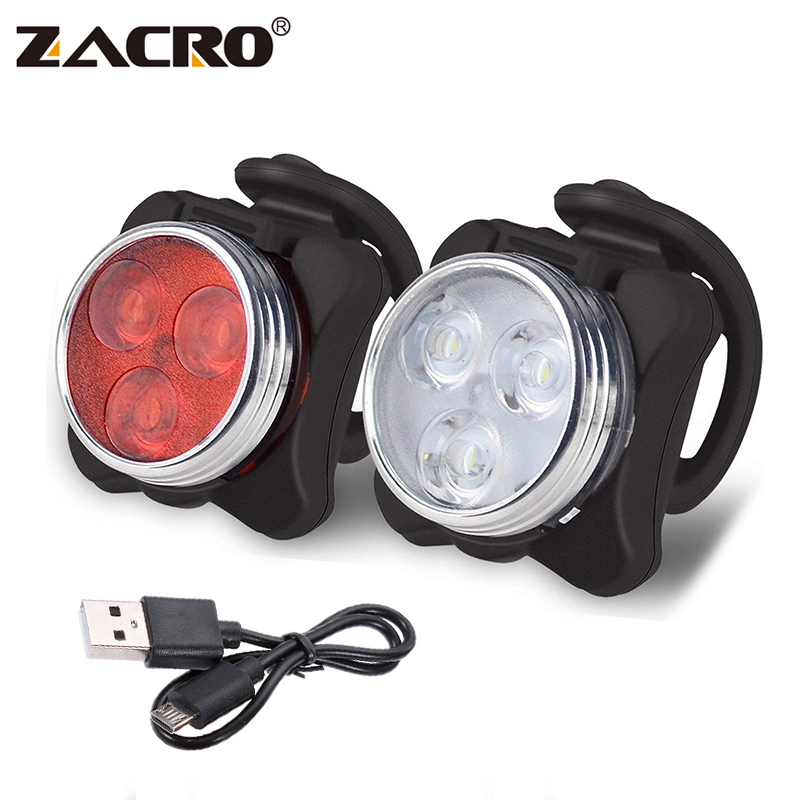 Zacro Rechargeable Tail Light 160 Lumen LED Bike Light 4 Modes USB 10000 Hours Mountain Bike Accessories for Bicycle Velofonar bicycle light headligh glare t rechargeable led 10w mountain bike bicycle riding equipment accessories