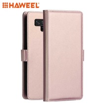 HAWEEL Phone Case for Samsung Galaxy Note 9 / A9 /A7 (2018) PC+PU Horizontal Flip Leather with Holder & Card Slot Wallet