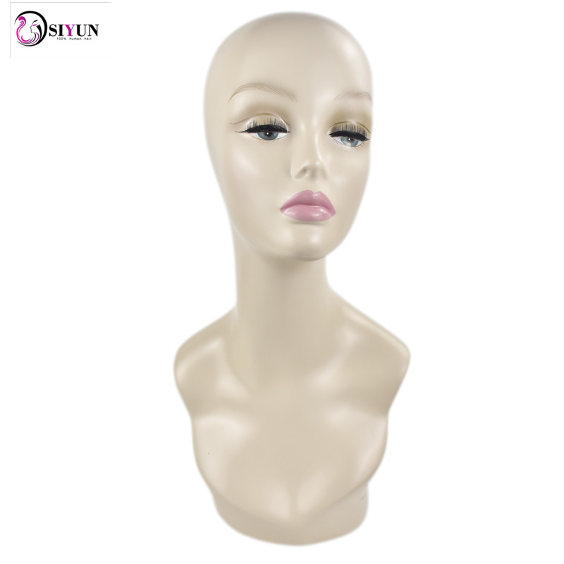 Free Shipping Female Realistic Wig Mannequin Head Manikin Head For Wig Hat And Jewelry Display Fiberglass Maquiagem Head Display new 2pcs female right left vivid foot mannequin jewerly display model art sketch