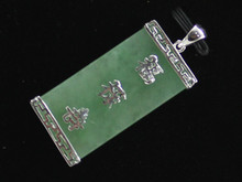 wholesanle Chinese Style green jewerly Cross Pendant