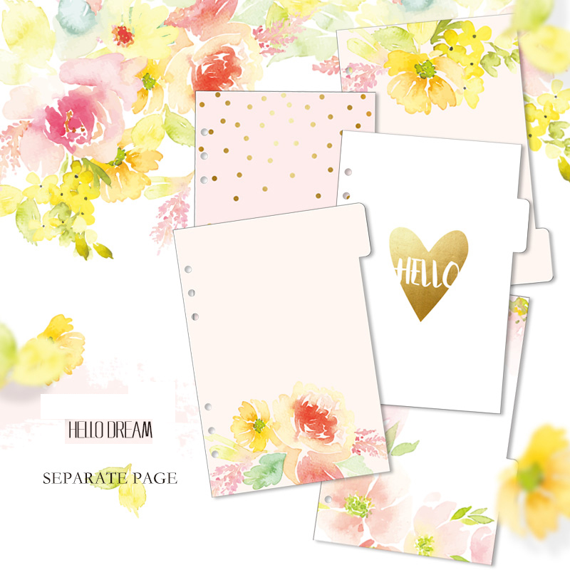 2018 Fromthenon Notebook Planner Accessories Hello Dream  Dividers A5 A6 Inner Page 5pcs Per Set  Filler Papers Match Filofax2018 Fromthenon Notebook Planner Accessories Hello Dream  Dividers A5 A6 Inner Page 5pcs Per Set  Filler Papers Match Filofax