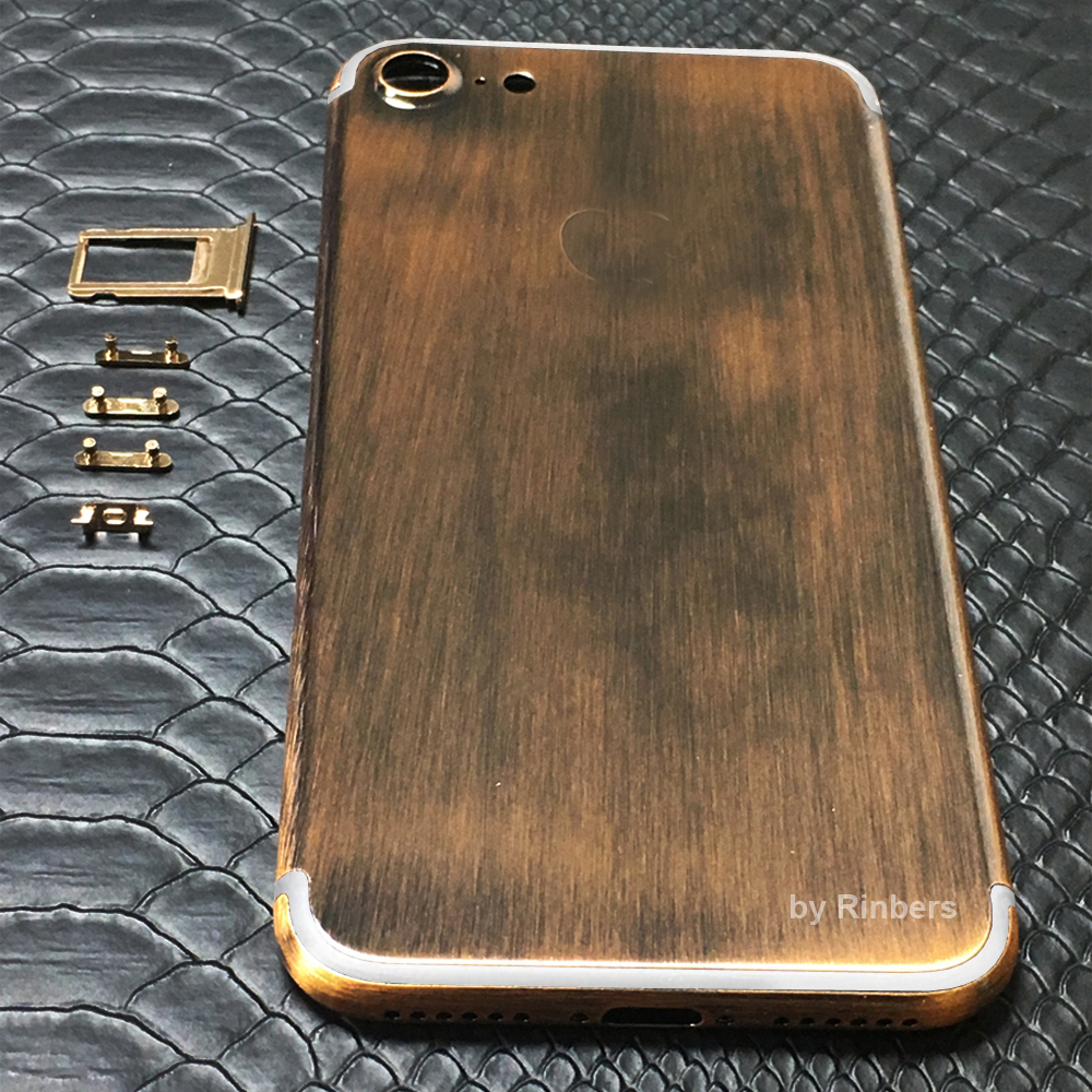 New Arrival for font b iPhone b font 7 4 7 Chrome Bronze Metal Back Cover