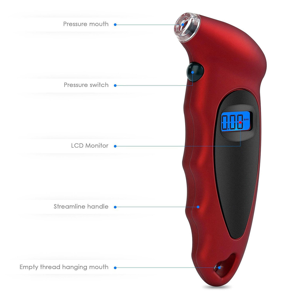 Sincere A++++ Quality Universal High Accuracy Digital Lcd Display Auto Car Tire Pressure Gauge Motor Tyre Air Pressure Meter Bike Tester