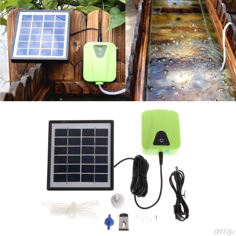 Solar Powered Charging Oxygenator Air Pump Oxygen Aerator For Aquarium Fish Tank Fish & Aquatic Pet Supplies #C93U# Dropship