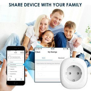 Image 3 - WIFI Smart Charger EU Plug 220V 16A Remote Control Voice control  smart Timing Switch Work For Amazon Alexa/Google Assistant