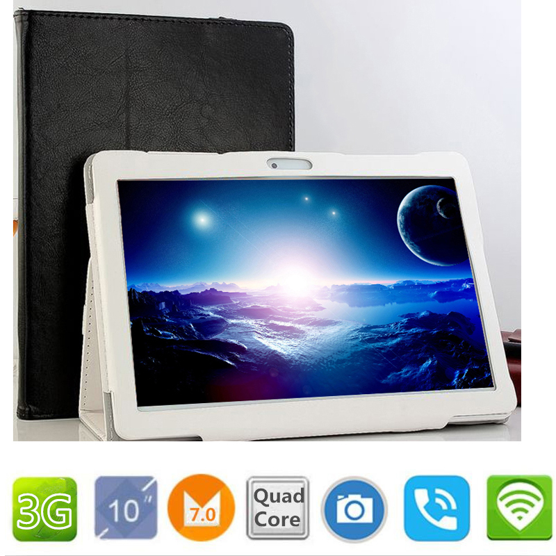 10.1 inch official Original 3G Phone Call Google Android 7.0 Quad Core IPS pc Tablet WiFi ROM 32GB PCS 9 10 android tablet pc 2017 new 3g phone call tablet pc 10 1 inch android 5 1 quad core brand tablet 10 1 hd screen wifi gps fm tablet pc 32gb