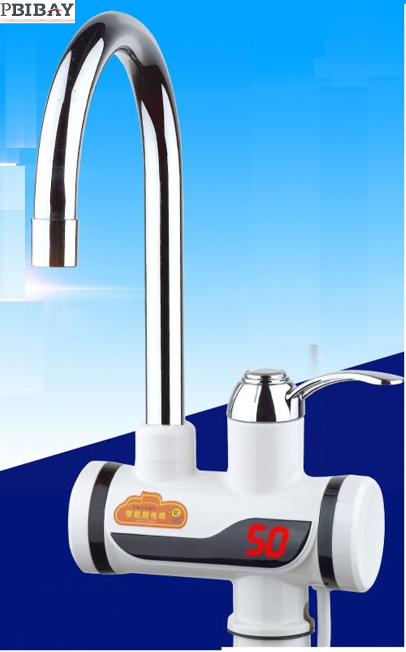 BD3000W-13,free shipping,Digital Display Instant Hot Water Tap,Tankless Electric Faucet,Kitchen Faucet Water Heater,with EU plug vams luna instant tankless electric hot water heater faucet with led temperature display eu plug
