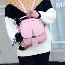 Joypessie женщины искусственная мини кисточкой рюкзак женская back pack кожа рюкзак mochilas сумка для девочек-подростков рюкзак