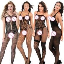 ФОТО women sexy lingerie women's erotic lingerie porno sex underwear fishnet sexy costumes open bra crotch intimate goods catsuit